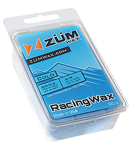 ZUMWax Ski/Snowboard RACING WAX - COLD Temperature - 100 gram - INCREDIBLY FAST in COLD TEMPERATURE !!! ()