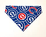 Chicago Cubs Dog Bandana No-Tie Design Over the Collar Kerchief