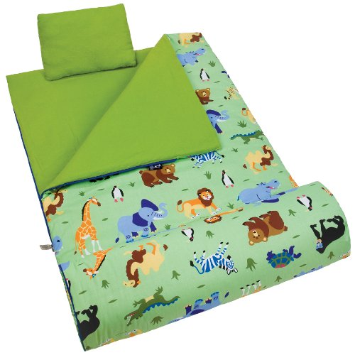 Wildkin Olive Kids Wild Animals Original Sleeping Bag