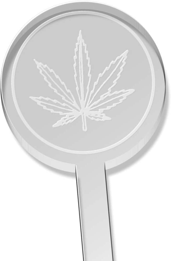 DS00029860 10 x Weed Leaf Short Drink Stirrers Swizzle Sticks