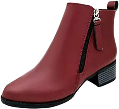 Posional Zapatillas de Mujer de Gamuza Gruesa con Cremallera ...