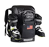 Zipline World Cup Backpack – USA Flag -Skiing and Snowboarding Travel Luggage – Stores Gear Including Jacket, Helmet, Goggles, Gloves & Accessories