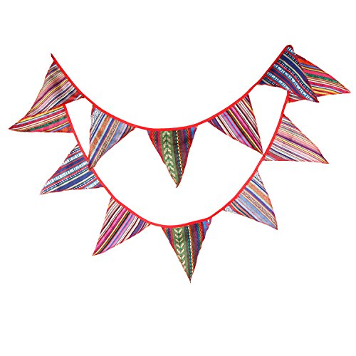 Dorchid 10.5 Feet Pennant String Banner Flag Outdoor Tent Triangle Flag for Party, Birthdays, Festivals, Christmas Decor ()