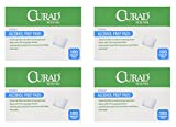 Curad Alcohol Swabs Antiseptic Prep Wipes Sterile Medium Pads Individually Sealed - Ideal for Pre-injection Skin Prepping, 400 Count, 4 Pack