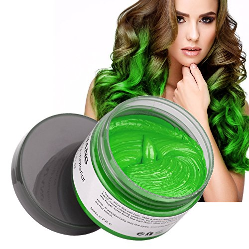 MOFAJANG Hair Color Wax, Instant Hair Wax,Temporary Hairstyle Cream 4.23 oz, Cyan, Green Hair Pomades, Natural Hairstyle Wax for Men and Women - Hairstyles Mens Glasses