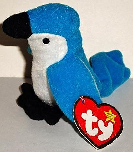 daa38dc8649 Amazon.com  Rocket the Blue Jay - McDonald s Ty Teenie Beanie MIP - 1999   05 by Teenie Beanies - 2000  Toys   Games