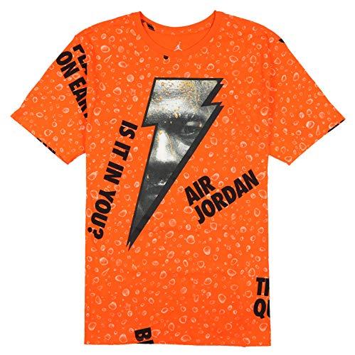 3a3e4e49a904 Jordan Men s Retro 1 Be Like Mike Gatorade T-Shirt Medium Orange Black