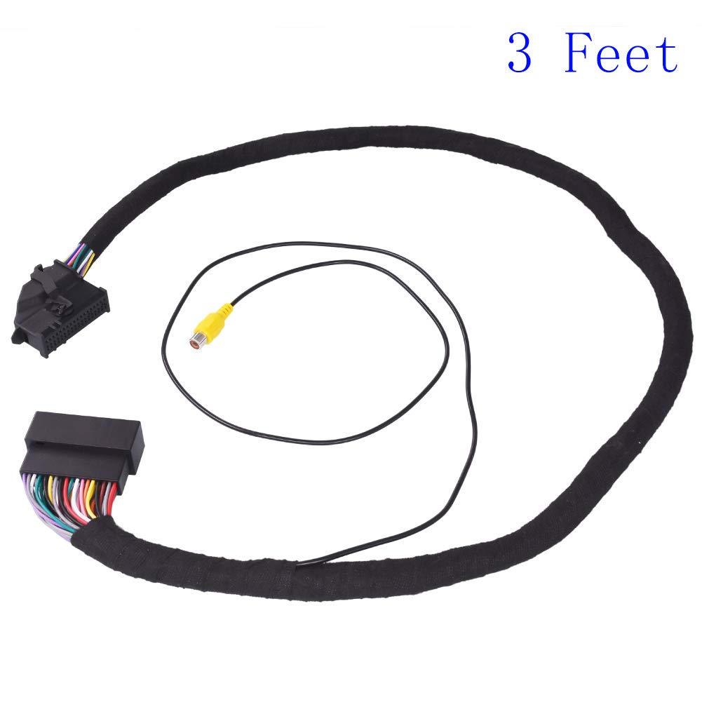 Apim 54 Pin Extension Cable AWG22 Male to Female Compatible with Ford SYNC 1 SYNC 2 SYNC 3 with RCA Female Connector for Backup Camera 100cm (3 Feet) by Dalagoo
