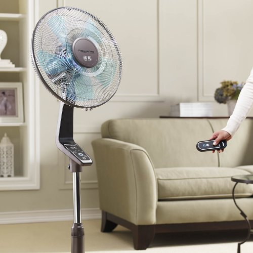 Rowenta Vu5551 Turbo Silence Oscillating 16 Inch Stand Fan Powerful And Quiet With Remote