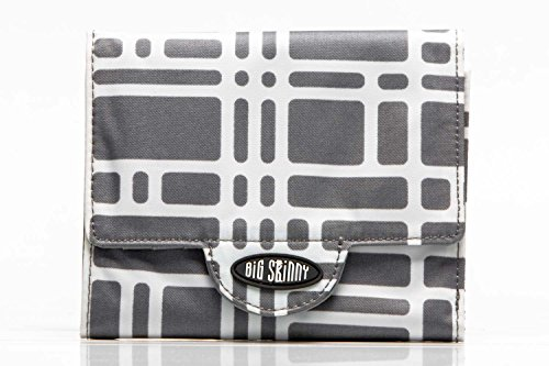 (Big Skinny Women's Trixie Tri-Fold Slim Wallet, Holds Up to 30 Cards, Graphite Cobble)