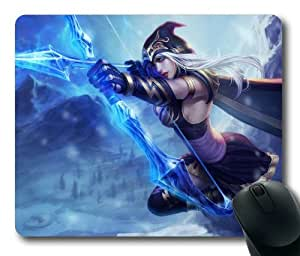 Ashe League of Legends Game Mouse Pad/Mouse Mat Rectangle by ieasycenter by mcsharks