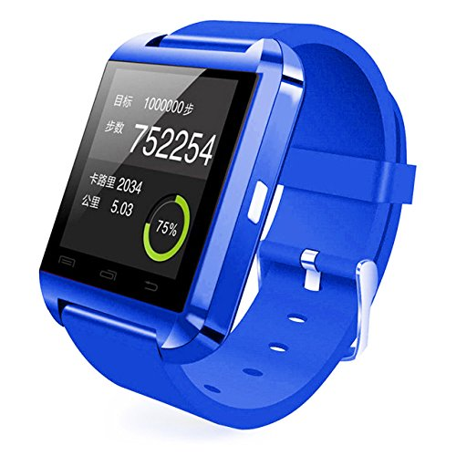 [Prime] U8 Bluetooth V4.0 Bluetooth Wrist Smart Watch Wristwatch UWatch for iOS Android iPhone 4/4S/5/5C/5S Samsung S2/S3/S4/Note 2/Note 3 HTC Sony BlackBerry,Dark Blue