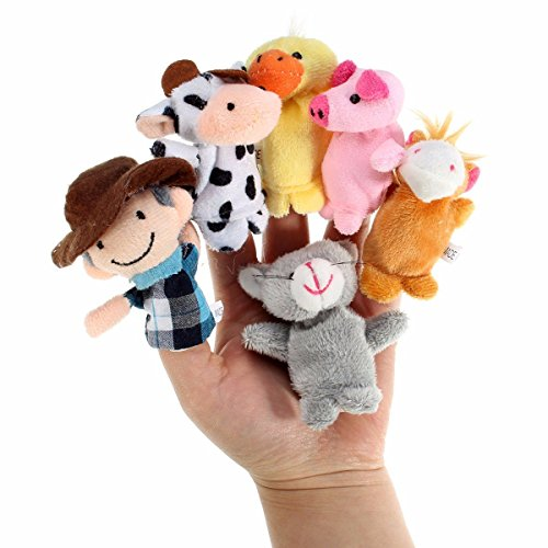 Puppet Master And Doll Costume (10Pcs Farm Animals Cartoon Storytelling Finger Hand Funny Puppets Kids Nursery Rhyme Doll Tale Props Plush Toy)