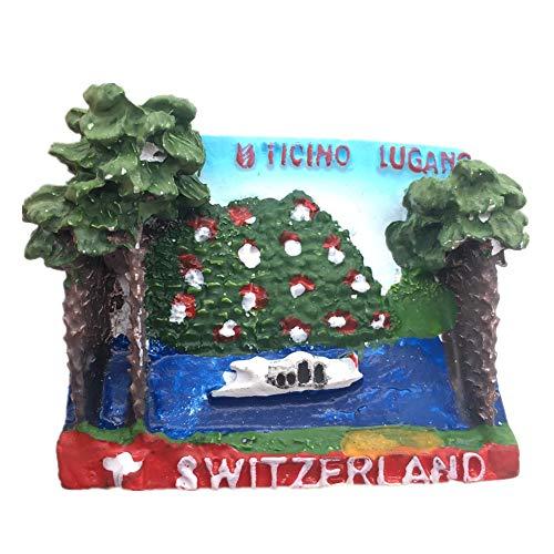 Fridge Magnet Ticino Lugano Switzerland 3D Resin Handmade Craft Tourist Travel City Souvenir Collection Letter Refrigerator Sticker