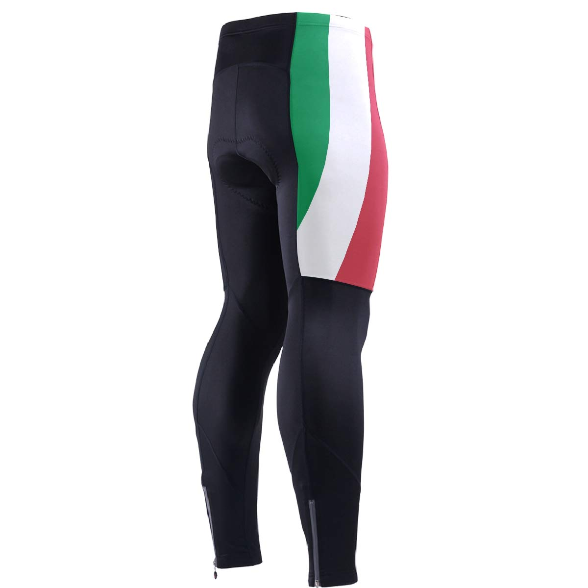 CHINEIN Men's Cycling Jersey Long Sleeve with 3 Rear Pockets Pants Italy Flag