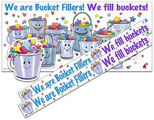 """We are Bucket Fillers!"" Bulletin Board Set (POSTER19, BORDER1, BUCKET2) by Bucket Fillers, Inc."