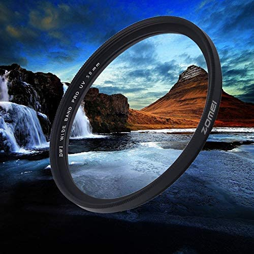 ZicHEXING-US Zomei 40.5//49//52//55//58//62//67//72//77//82mm Standard Frame Camera UV Filter