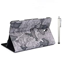Apexel PU Leather Bible Book Case with Touch Pen for Samsung Galaxy Tab S 8.4, Grey (T700-9-GRY)