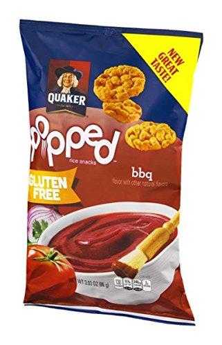 Quaker Popped Gluten Free Rice Snacks BBQ Flavor - 3.03 oz