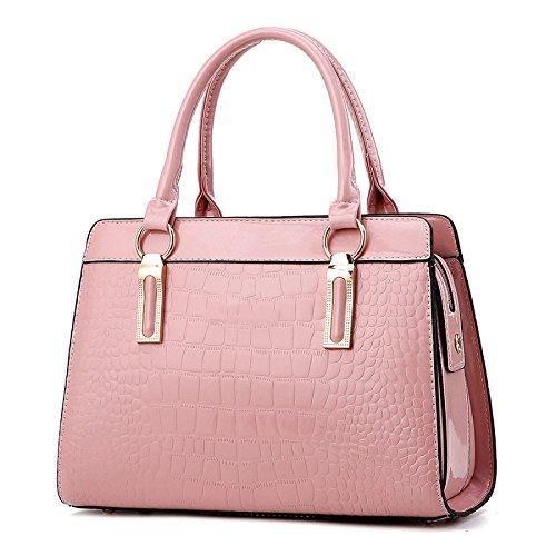 Di Sacchetto Rosa Coccodrillo Moda Modello Delle Donne Spalla Messaggero Colore Del Borsa qA1SX