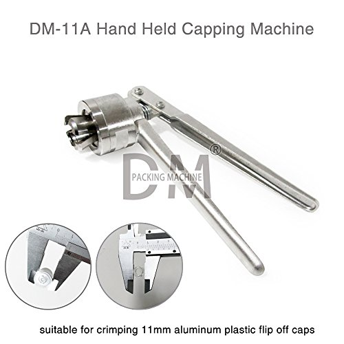 DM Manual Vial Crimper 11mm Crimper Medical Botella Cap Crimping Tool antibióticos Botella Capper máquina limitación de...