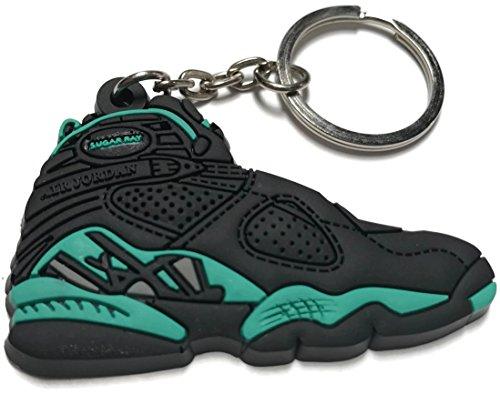 Air Jordan Retro 8 Schwarz Grün Schuh Schlüsselanhänger Sammlerstücke