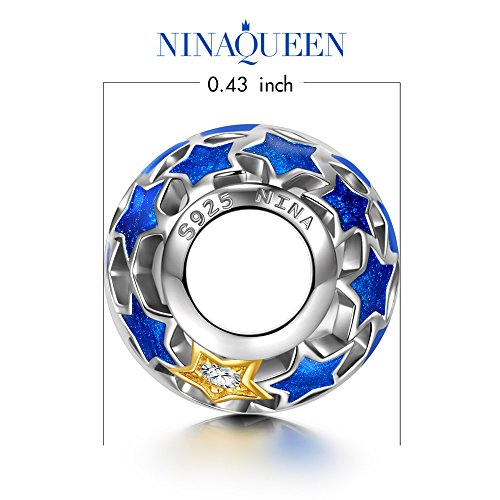 """NinaQueen """"Starry Night"""" 925 Sterling Silver Openwork Bead Charms"""