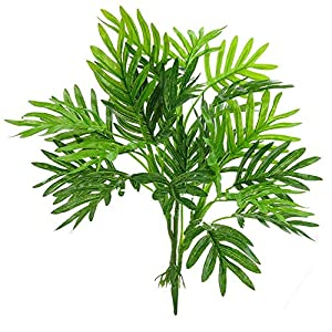 Beebel Faux Palm Leaves, Artificial Palm Tree Leaf Imitation Leaf Artificial Plants Green Greenery Plants Tropical Large Palm Trees for Party Flowers Arrangement Wedding Decorations 71