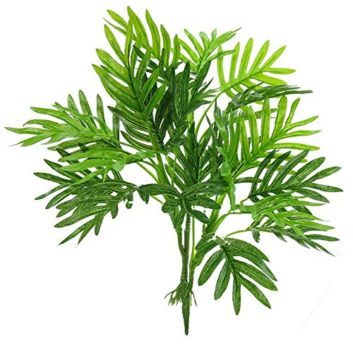 (Beebel Faux Palm Leaves, Artificial Palm Tree Leaf Imitation Leaf Artificial Plants Green Greenery Plants Tropical Large Palm Trees for Party Flowers Arrangement Wedding Decorations)