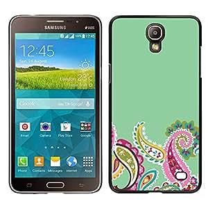 "Pulsar Snap-on Series Teléfono Carcasa Funda Case Caso para Samsung Galaxy Mega 2 , Indian Diseño floral verde rosada minimalista"""