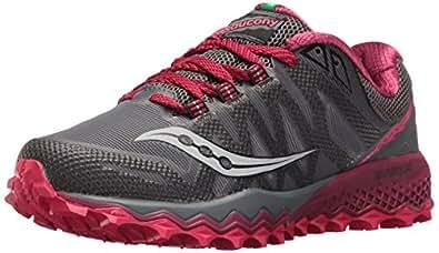 Saucony Women's Peregrine 7 Running Shoe, Grey Berry, 10 Medium US