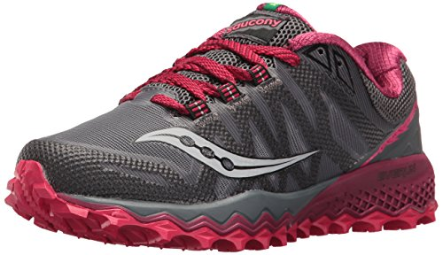 Saucony Women's Peregrine 7 Running Shoe, Grey Berry, 9 Medium US