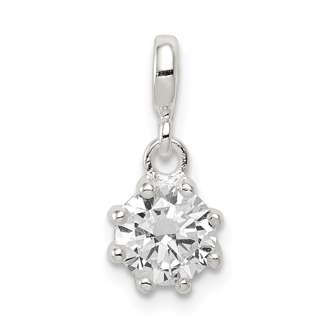 ICE CARATS 925 Sterling Silver Clear Cubic Zirconia Cz Enhancer Necklace Pendant Charm Fine Jewelry Ideal Gifts For Women Gift Set From Heart
