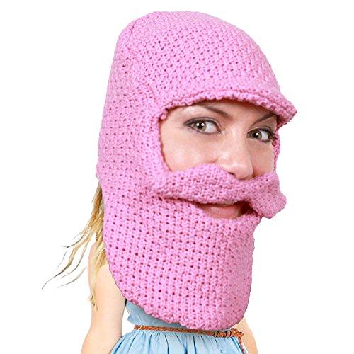 Beard Head - The Original Balaclava Knit Beard Hat (Pink)]()