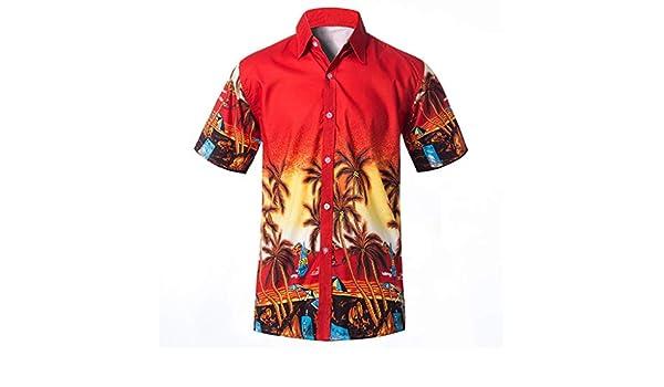 Stoota Mens Men Classic T-Shirt,Relaxed-Fit Beach/Tee,Summer Button-Down Tops