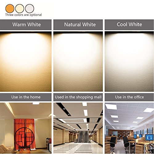 B-right 15W 7-inch Dimmable Square LED Panel Light Ultra-thin 1200lm 5000K Cool White LED Recessed Ceiling Lights for Home Office Commercial Lighting by B-right (Image #4)