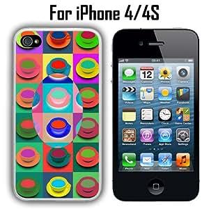 Pop Art Coffee Custom Case/ Cover/Skin *NEW* Case for Apple iPhone 4/4S - White - Rubber Case (Ships from CA) Custom Protective Case , Design Case-ATT Verizon T-mobile Sprint ,Friendly Packaging - Slim Case