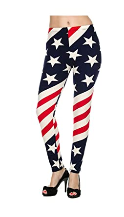 2e9931d3ce07d6 American Flag Leggings at Amazon Women's Clothing store: