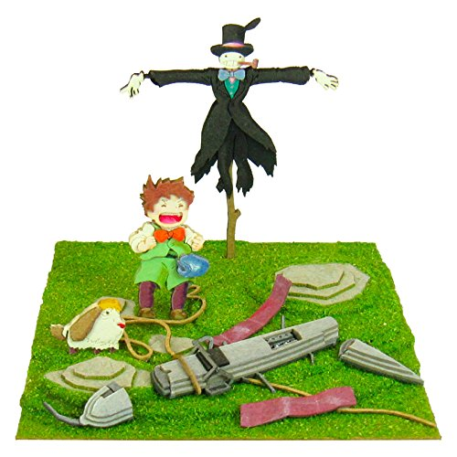 Studio Ghibli mini Howl's Moving Castle scarecrow of turnip and Marx and Hin MP07-35 non-scale paper craft]()