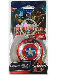 Captain America Shield Pewter Key Ring