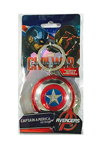 Marvel Captain America Shield Pewter Key Ring ()