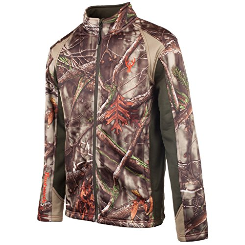 Huntworth Men's Soft Shell Jacket, Oak Tree Evo Camouflage, Medium - Evo Soft Shell Jacket