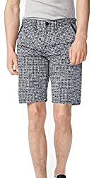 ARMANI EXCHANGE AIX ALLOVER PRINT CHINO SHORT, Floral Blue, Size 32