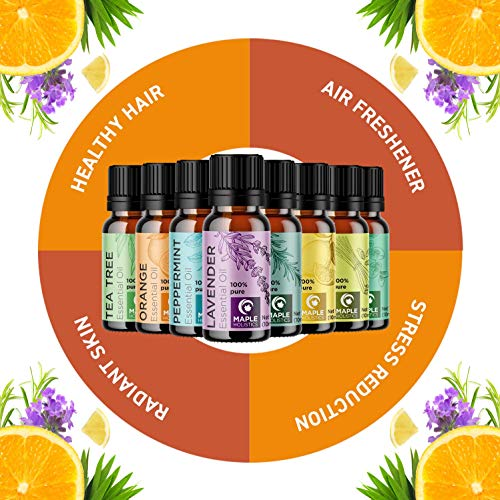 100% Pure Essential Oils Set – Aromatherapy Essential Oils for Diffuser for Home Travel and Natural Essential Oils for…