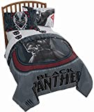 Jay Franco Marvel Black Panther Wakanda 4 Piece Twin Bed Set - Includes Reversible Comforter & Sheet Set - Super Soft Fade Resistant Polyester - (Official Marvel Product)