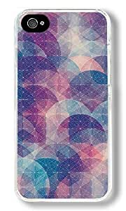Abstract Circles Connected Dots Pattern Custom iphone 6 plus 5.5 Case Back Cover, Snap-on Shell Case Polycarbonate PC Plastic Hard Case white