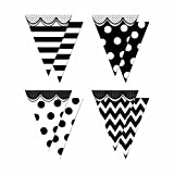 Teacher Created Resources Big, Bold Black and White Pennants