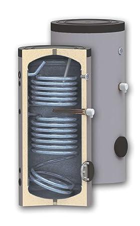 Hijo 500 litros calentador de agua solar con dos intercambiadores de calor – Bobinas y lugar para inmersión calentador eléctrico