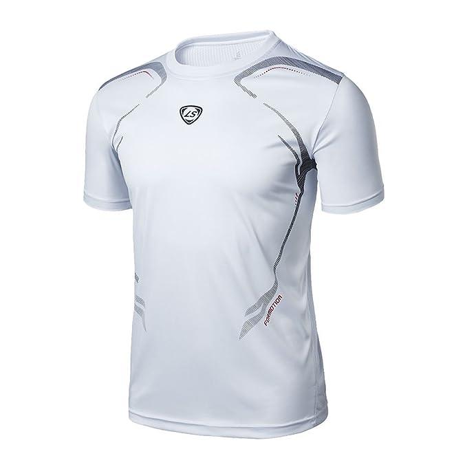 Bobora - Camiseta de fitness, secado r¨¢pido, el¨¢stica