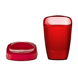 Ridder Lot de 2 Neon Rouge accessoire de salle de bain Ensemble de ...